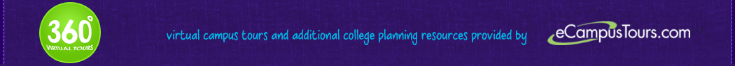 360 degree virtual campus tours and additional college planning resources provided by ecampustours.com